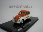 Citroen 2CV Sport 1976 Orange White 1:43 Vitesse